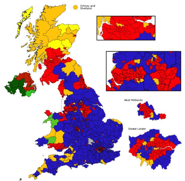 UK election map