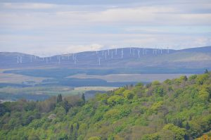 Wind farm near Stirling, Scotland. Photo: Aaron Bradley