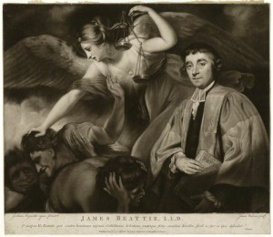 NPG D23555; James Beattie by James Watson, after  Sir Joshua Reynolds